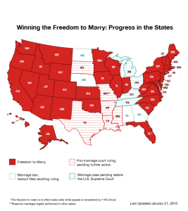 Source: Freedom to Marry www.freedomtomarry.org