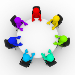 Image of people in a round table group